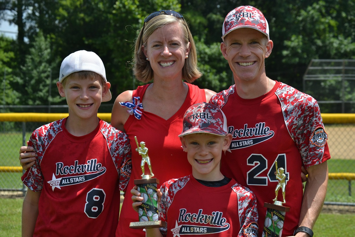 Christine Frei (L&A) and her family at the Southeast Regional Babe Ruth Finals